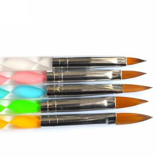 5pcs/set 2 ways Professional Nail Art Brushes Acrylic UV Gel Nail Art Tips Painting Brush Pen Buil