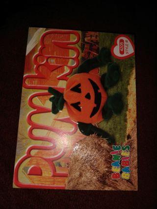 Beanie babies card - Pumpkin