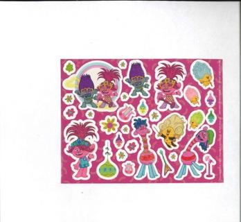 Glittery Troll Stickers # 2