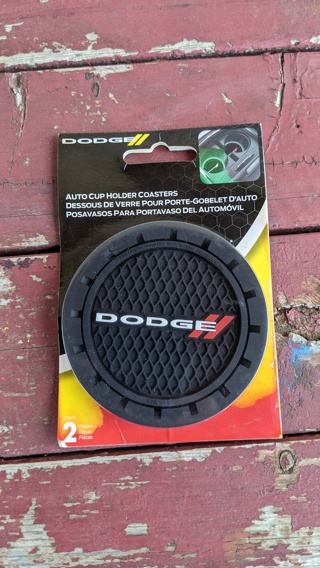 Dodge Auto Cupholder Coasters Plasticolor 000649R01 Car Truck SUV Cup Holder Coaster 2-Pack