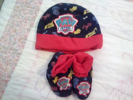Paw Patrol baby hat and slippers