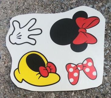 DISNEY MINNIE MOUSE WALL DECALS DECORATIONS