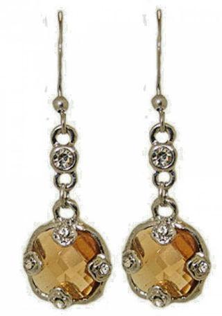 Dangle earring cubic zirconia champagne NWT