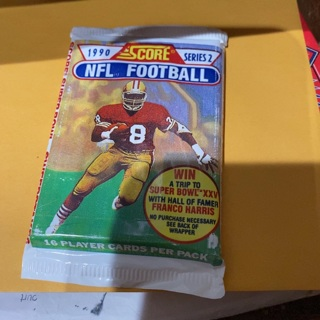 1990 score series two unopened pack of football cards