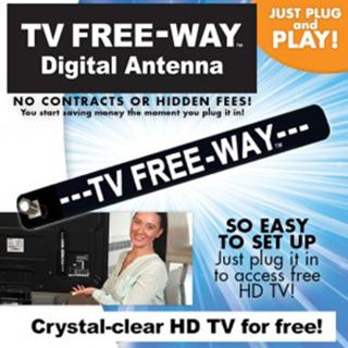 HDTV Indoor Antenna Digital 9.8 Feet Coax Cable