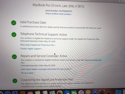 Late 2016 MacBook Pro 13 Retina i5 2.9Ghz 8GB 256GB w/ Touch Bar Space Gray