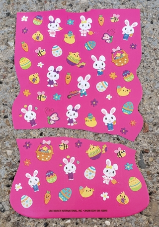 EASTER STICKERS 2 SHEETS LOT 3