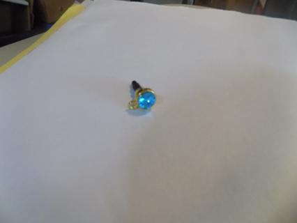 Aqua large jeweled dustplug for phone