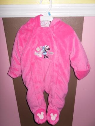 e05e275e698e Free  Baby Girl Fleece Hooded Snow Suit Bunting 0-3 months Disney ...