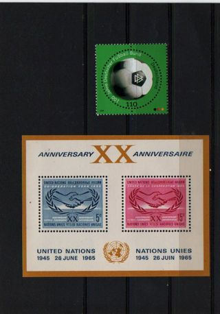 Anniversaries soccer germany and united nations * MINT  -  #B-RO-S1#1
