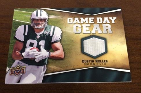 2009 Upper Deck New York Jets Jersey Card Dustin Keller