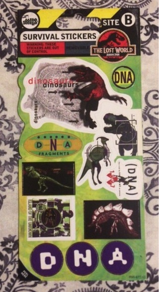 Jurassic Park The lost world sticker sheet