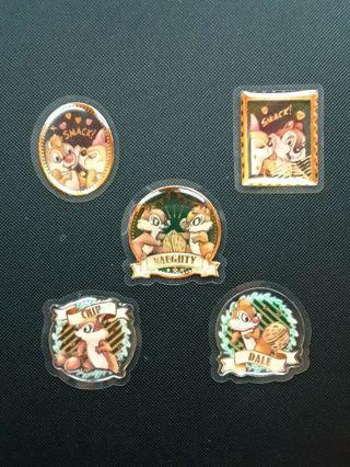 """Chip-N-Dale"" Sweet Milky Flake Epoxy Stickers *Hard To Find!!* ☆Kawaii Bonus☆"