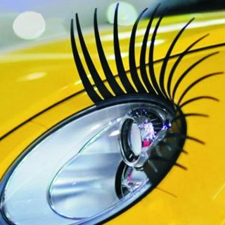 Charming Black False Eyelashes 1 Pair Car Styling 3D Auto Sticker Car Stickers