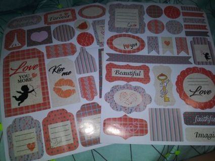 Huge scrapbook sticker sheets really nice Lowest gins No refunds! selling out deals!
