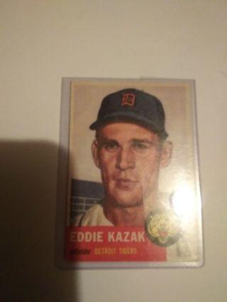 Two Vintage Baseball Card Lot--1953 Topps Eddie Kazak and 1959 Topps Whitey Lockman
