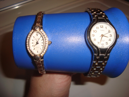 2 Ladies Watches Timex and Waltham