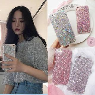 Bling Glitter Sparkle Rubber Soft Silicone Case Cover For iPhone 5 6s 7 8 Plus X