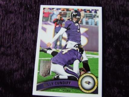 2011 Billy Condiff Baltimore Ravens Topps Card #65