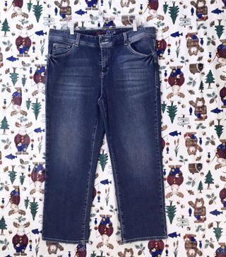 WOMEN'S TOMMY HILFIGER Blue Jeans SPIRIT CROP JEANS FREE SHIPPING