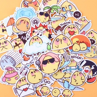 ✶ Baby Chick High End Kawaii Sticker Flakes Set of 10 NEW ✶