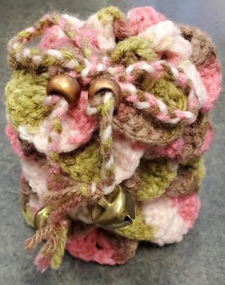 Dragon Egg Dice Bag (Pink Camo)