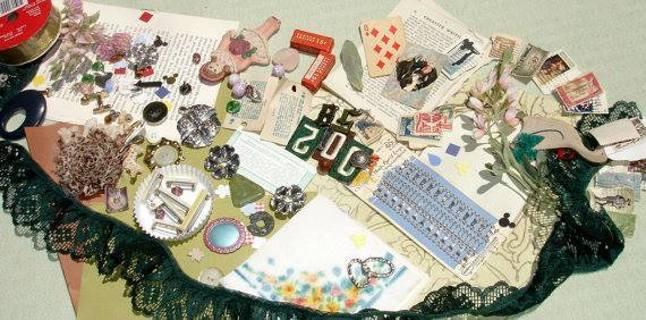 Mixed Media, Altered Art, Destash, Findings Craft Supplies Grab Bag