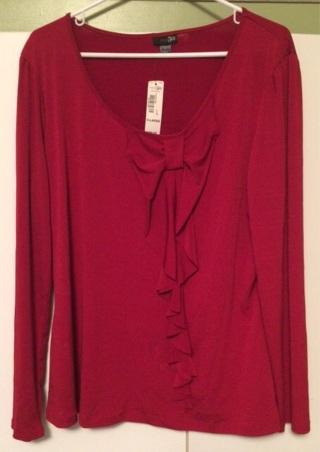 2e25820839d0f9 Xl Red Women S East 5th Jcpenney Blouse Shirt Tops