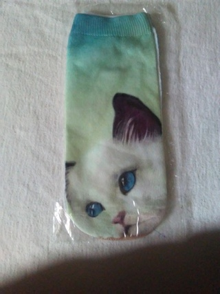 3D cat sock free shipping
