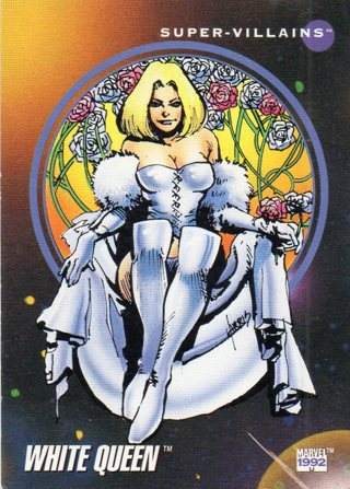 1992 Marvel Comic Trade Card: Queen White