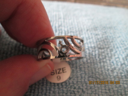 Size 9 Rainbow mar`s ring for the gay men for auction have a look!!!