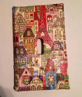 Handmade Paris Eiffel Tower Lightswitch Cover ***FREE SHIPPING***
