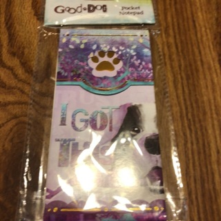 Good dog pocket notepad
