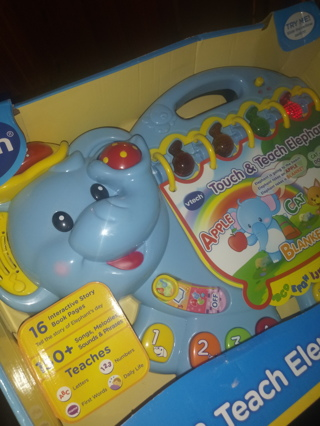Vtech elephant touch and teach reader ! New in pack.
