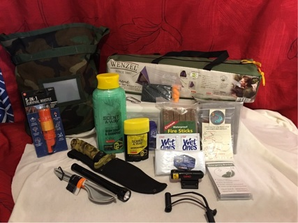 HUGE Hunting Camping Survival Lot For Two Tent Included More Added!!Lowered GIN!!!