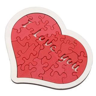 Wooden Love Heart Love Red Puzzle Game Toys Romantic Gift Valentines Day HO3
