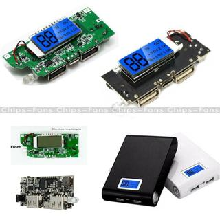Dual USB 5V 1A 2.1A Mobile Power Bank 18650 Battery Charger PCB DIY Black/Blue C