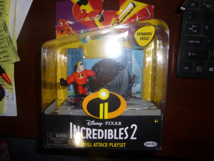 New The Incredibles Drill Attack Playset