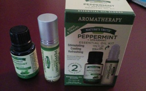 Brand new sealed set Peppermint and Spearmint essential oils blend with full roller bottle