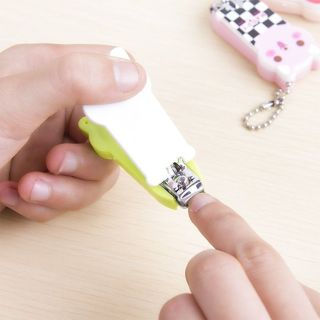 Cartoon Cute Finger Toe Kids Baby Nail Clipper Scissors Trimmer Cutter Keychain