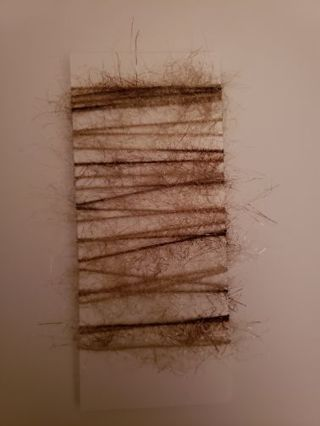 Fuzzy brown tan string for crafts 2 yards