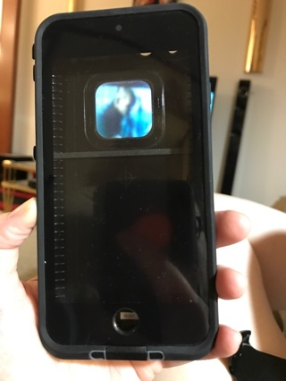 ASPHALT BLACK Lifeproof FRĒ iPHONE 7 CASE + Brand New Otter Belt Clip/Holster Low Gin Free Ship