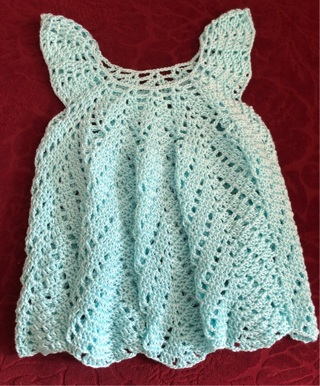 3 to 6 month crochet baby dress