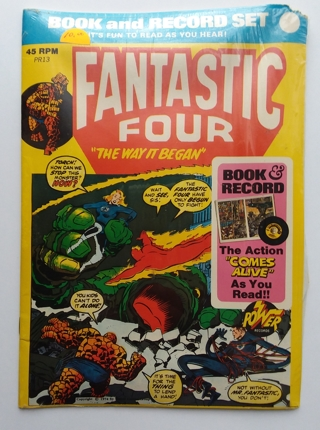 1974 Marvel Comics Power Records FANTASTIC FOUR Book & Record Set Sealed