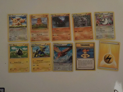 10 POKEMON TRADING CARDS LOT 11