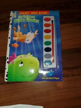 Paint Box Book Old Testament BIBLE Stories with Noah's Ark Book