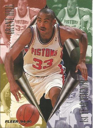 Free Grant Hill Of Detroit Pistons 94 95 Fleer 1st Year Phenom