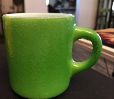 Vintage Green Orange Peel Coffee Cup