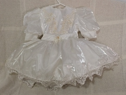 White  Dress Size 3 for little girl