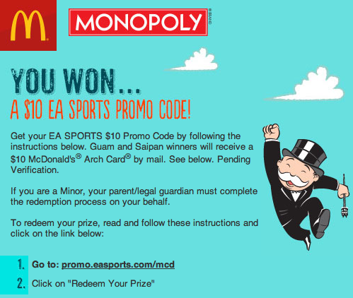 Free: $50 EA Sports Promo Code - Video Game Prepaid Cards